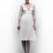 Vestido de novia 2013 corto con escote en V, mangas largas confeccionadas en encaje y falda con caída elegante por encima de la rodilla