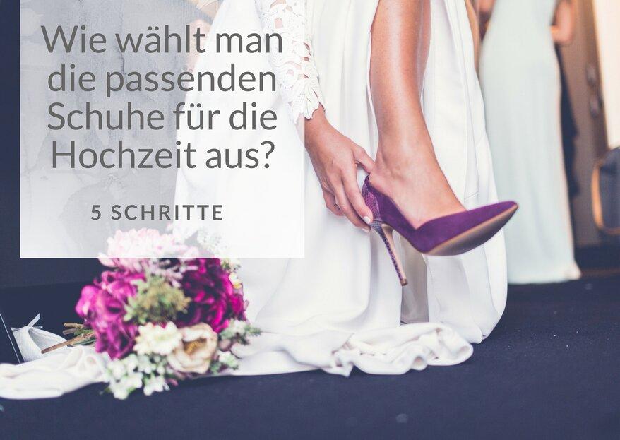 Wie man den richtigen Hochzeitsschuh auswählt – 5 Tipps für den Kauf der Brautschuhe