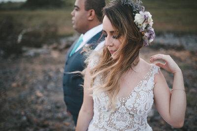 Casamento boho chic no campo de Mariana & Marcos: intimista e romântico nos pequenos detalhes!