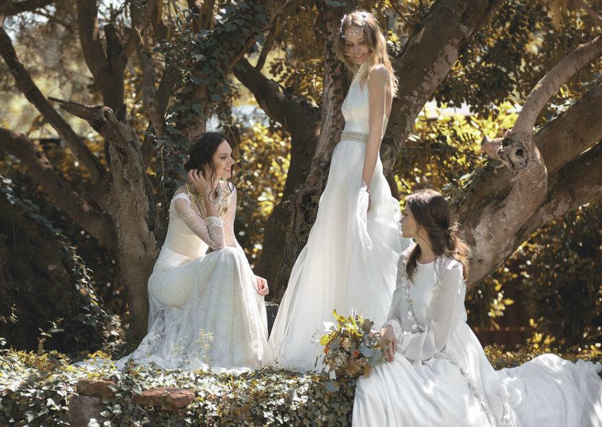 9 vestidos para uma noiva fada