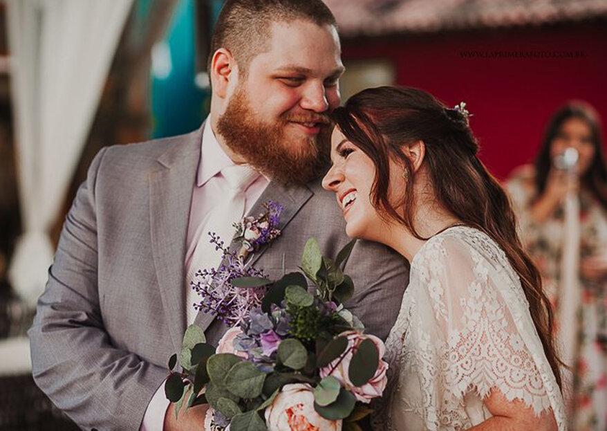 Elopement wedding de Samira & Marcos: íntimo, romântico e muito especial