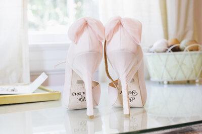 ¡No busques más! Estas son las tendencias Top en zapatos de novia 2015