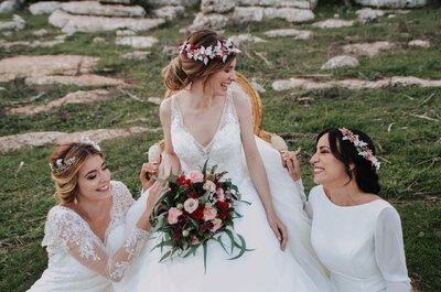 Aglae, Eufrosina y Talía: la esencia de una boda mitológica