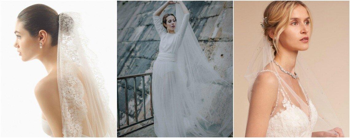 Velos de novia para complementar tu romántico estilismo nupcial. ¡Encuentra tu modelo favorito!