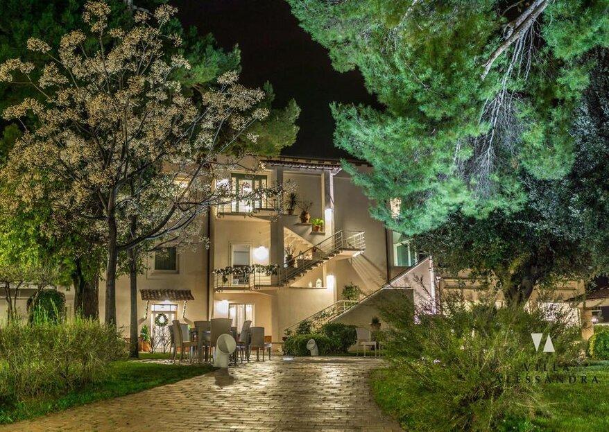 Una location di grande fascino per celebrare le vostre nozze da sogno: Villa Alessandra