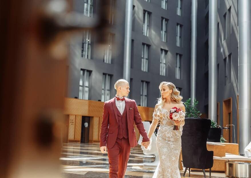 Все наоборот: стильная свадьба Евгении и Ивана