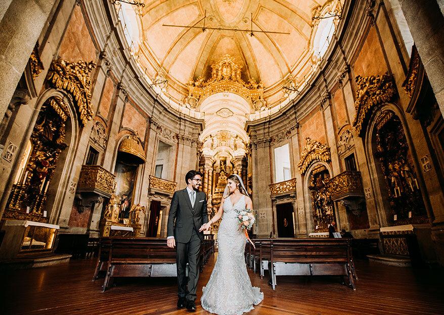 Os 8 momentos de uma cerimónia religiosa que NÃO podem faltar no álbum do seu casamento