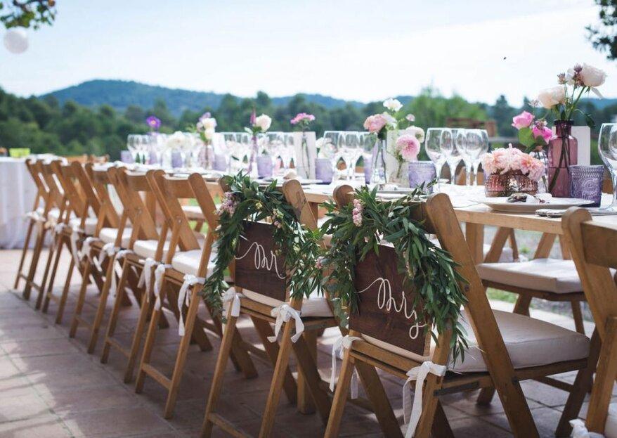 5 stili per le decorazioni del tuo matrimonio che adorerai!