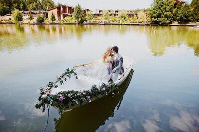 С нотками Парижа: свадьба Ксении и Павла