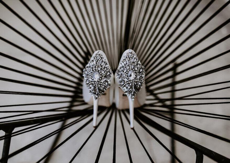 Zapatos de novia con pedrería ¡Brilla a cada paso!