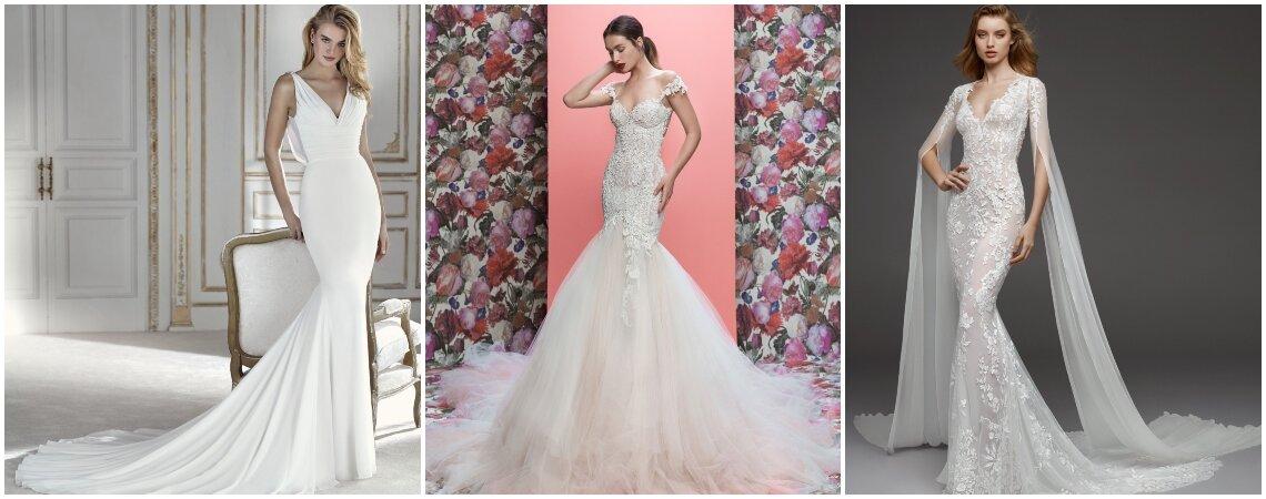 Vestidos de noiva de corte sereia com os quais causará sensação. Descubra-os!