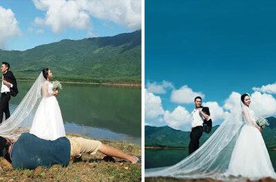 8 locuras que hacen los fotógrafos en los reportajes de boda, ¡alucinante!