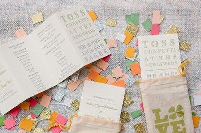 Cue el Confetti: La inspiración de confetti para boda