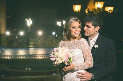 Andressa & Rodinei: casamento clássico sofisticadíssimo em tons de nude, rosa e dourado em Porto Alegre!