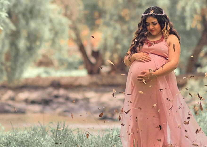 b8109edea Consejos para invitadas embarazadas  cómo escoger el vestido y qué comer en  un matrimonio