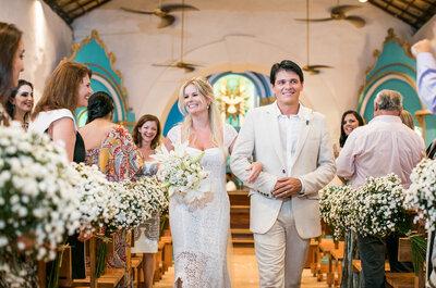 Daniela & Marcilio: Casamento rústico praiano MARAVILHOSO em Trancoso!