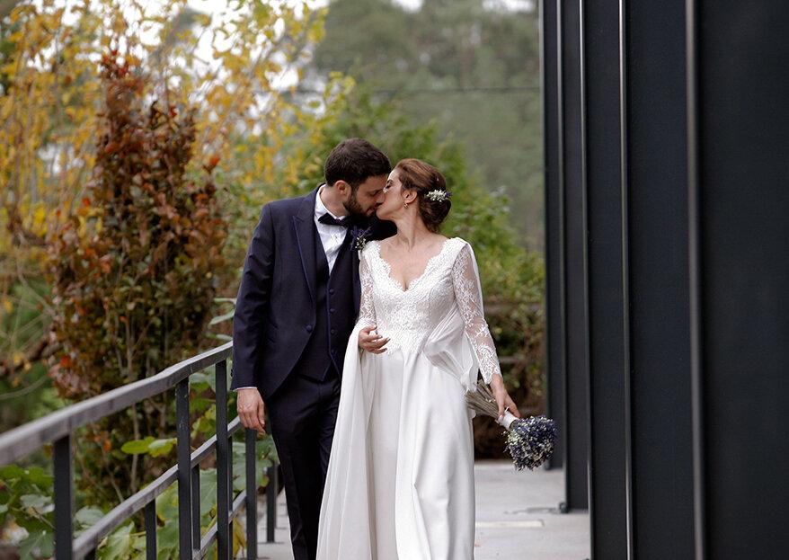 "Sílvia e António: um casamento de estilo ""clean"" salpicado a momentos mágicos"