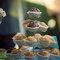Muffins de vainilla y chocolate con nueces