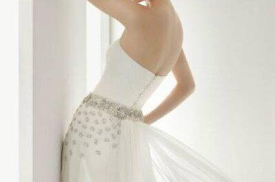 6 vestidos de novia con aplicaciones de pedrería