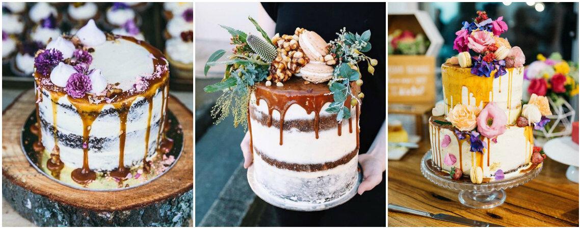 Drip Cake: o bolo que é super tendência em casamentos e chás de cozinha