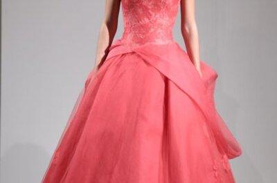 Vera Wang Fall Collection 2014: vestidos de novia en tono coral