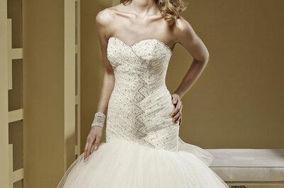 Vestidos de noiva com pedraria e tule pela marca: Nicole Spose na colecção Romance 2015