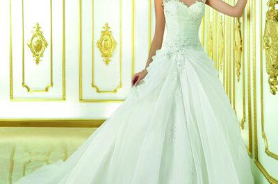 Vestidos de novia con faldas voluminosas, ¿me quedarán bien?