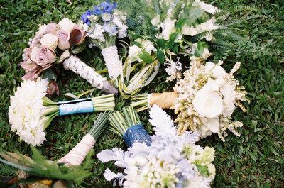 Un ramo de novia con estilo: Las flores se convierten en tu accesorio más fashionista