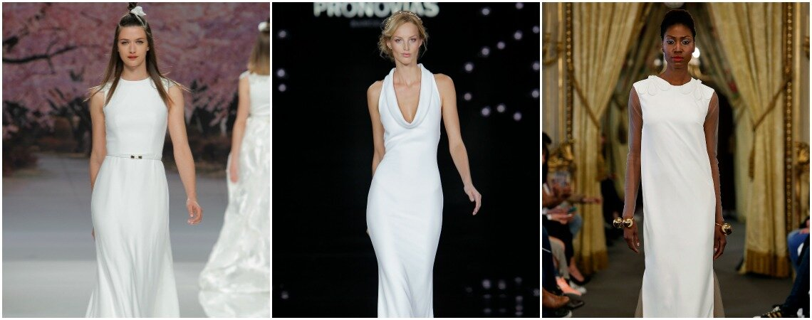 Simple and Minimalistic Dresses For Sophisticated Brides