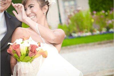 Frische Frühlingsblumen für den Brautstrauß