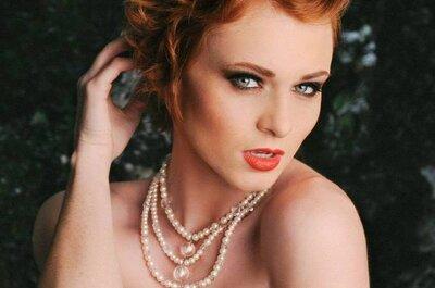 Joyas elegantes y chic para novias de Rosefire Jewelry