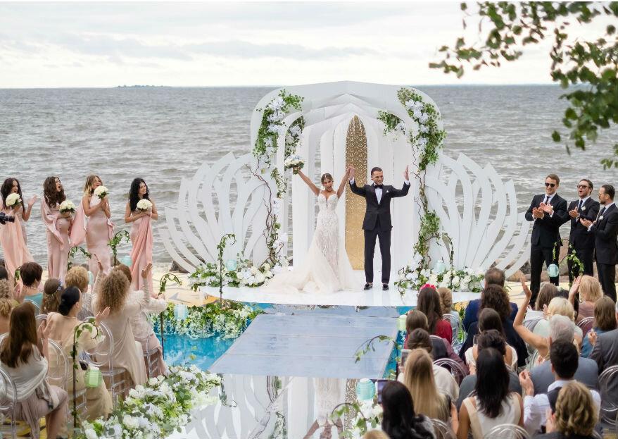 Золотая лазурь: свадьба Евгения и Полины