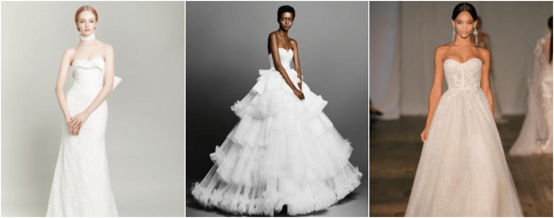 40 vestidos de noiva tomara que caia  você vai se apaixonar! bb82fd06df