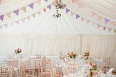 Boas ideias de como usar bandeirinhas para decorar seu casamento!