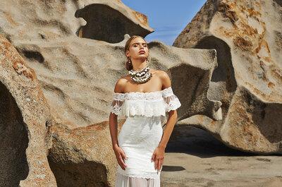 Artesanía de estilo bohemio: ¡morirás de amor con estos vestidos de novia!