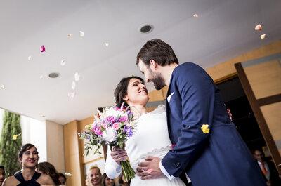 Una boda clásica con un toque muy personal: el gran día de Aurora y Carlos