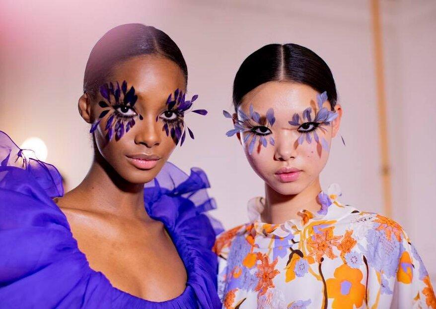 Trend Alert Invitata di nozze: le ciglia piumate, l'ultima frontiera del make up direttamente dalle passerelle!