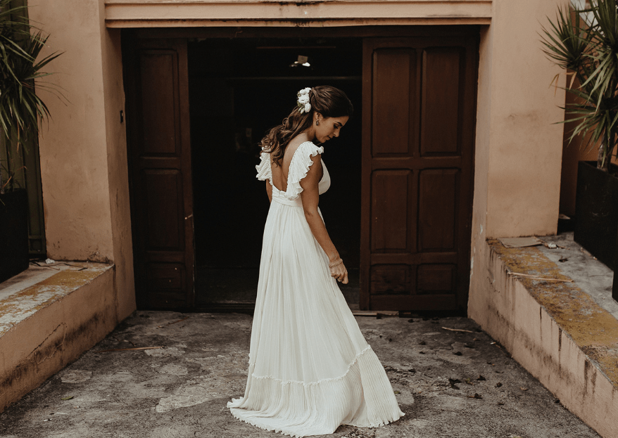 Cómo elegir el vestido de novia para mi boda por el civil. 5 pasos básicos
