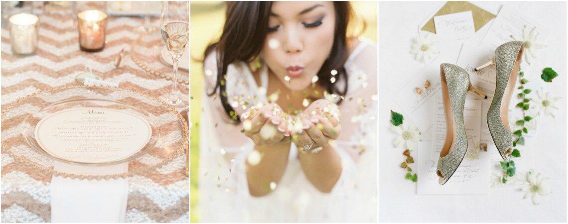 Pailletten en glitters: De perfecte combi voor een glitter bruiloft