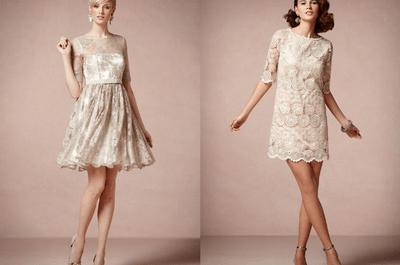 Vestidos para damas de boda en colores pastel y nude
