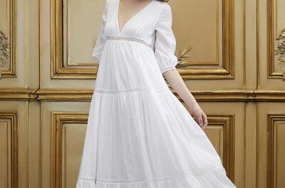 Viaja en el tiempo: Los vestidos de novia corte imperio te harán sentir como reina