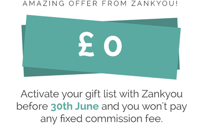 Don't miss out on Zankyou's money saving, summer special offer!