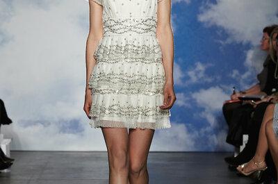 Feminilidade e estilo: vestidos de noiva Jenny Packham 2015 na New York Bridal Week