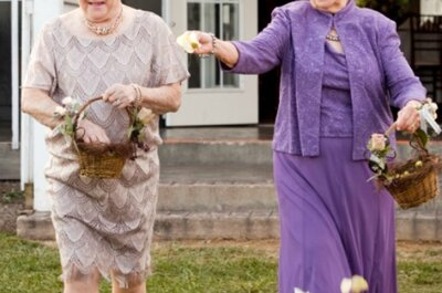 Idea 'top': Que las damas de honor sean las abuelas de los novios
