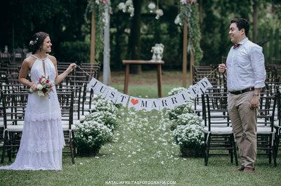 O casamento folk ao ar livre APAIXONANTE de Mayara & Guilherme.