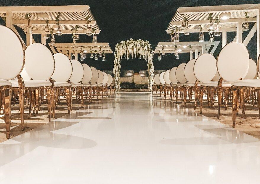 Tres elementos del mobiliario de lujo de Vanessa Pérez Design que vas a querer en tu boda