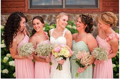 Herrliche Kleider in Pastell für Brautjungfern