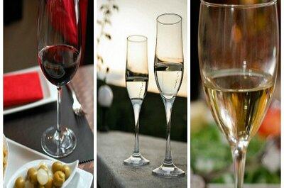 ¿Qué copas usar para los tragos de la boda?