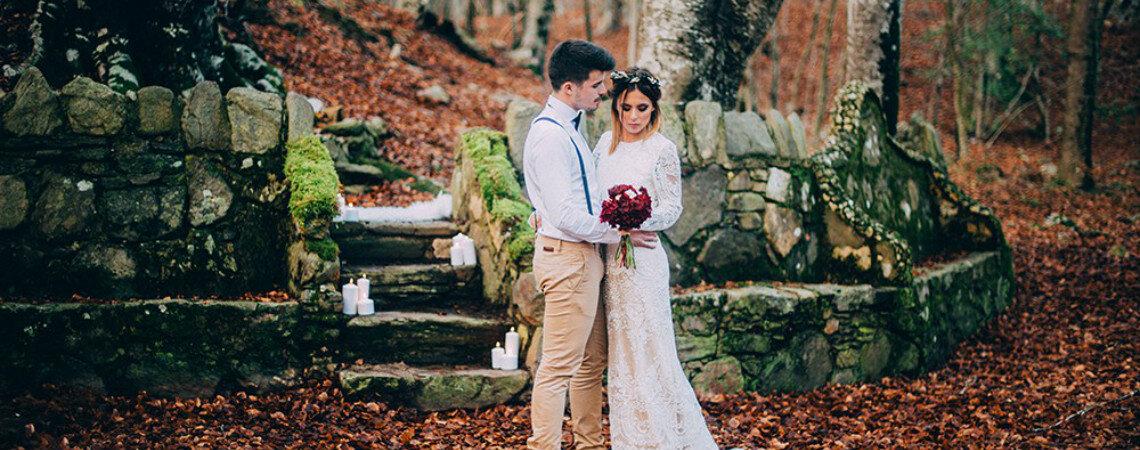 Forest of Love: el resultado de una boda inspirada en la elegancia y el contraste