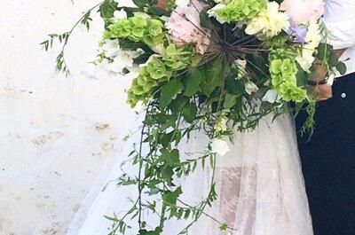 Морозная свежесть: различные варианты зимних свадебных букетов